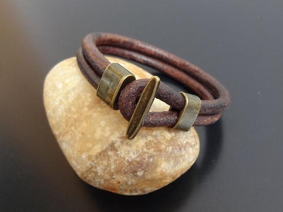 Mens leather bracelet fish hook leather bracelet hook clasp for Mens fishing bracelet