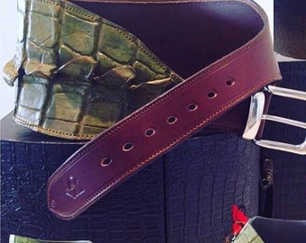 Every picture tells OUR story! Australiana Series Crocodile Belt. Dementoid Green Crocodile Skin & Full grain leather.