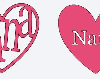 Nana/Mimi/Gigi/Grandma Ytei/Rtic/Tumbler Decal
