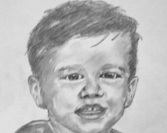 Graphite child portrait