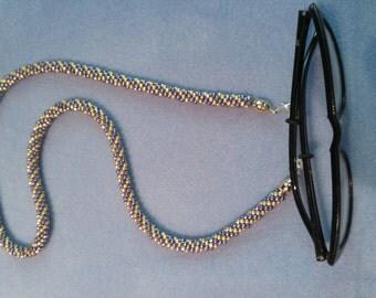 Kumihimo woven eyeglass holder