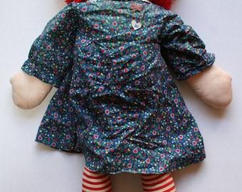 "Vintage Handmade Raggedy Ann Doll 36"""