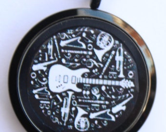Guitar Man Locket