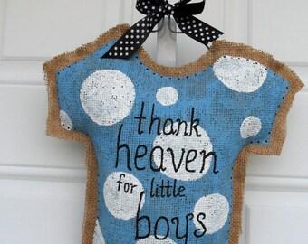 Baby Boy PJs Decorative Door Hanger