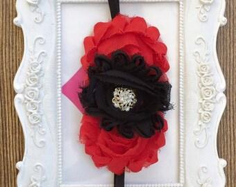 Headband Fabric Flowers
