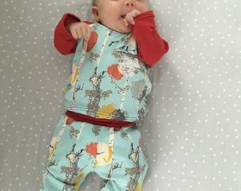 Autumn Walk Yoga Pants // baby pants // toddler pants // gender neutral pants // flower pants //baby trousers