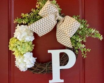 Monogram Wreath   Initial Wreath   Letter Wreath   Last Initial Wreath