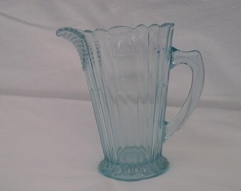 Art Deco Turquoise Water Jug