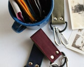 Canvas Belt Loop Key Chain - select one