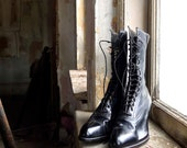 Edwardian Lace Up Boots Size 5 Euro 35