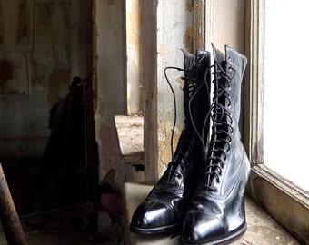 Edwardian Lace Up Boots Size 5 Euro 35