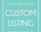 Custom Listing for Melissa Sperling