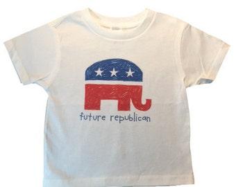 SALE, Future Republican, President, Shirt Kids, Vote, Baby Gift, Kid President, Future President, Elephant, Trump, valentines day