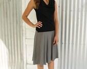 Striped Skirt, Organic Cotton Skirt, Bamboo Pull on Skirt