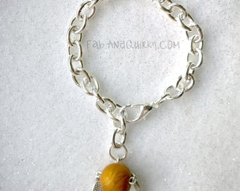 Golden Snitch Sterling Silver Charm Bracelet inspired by the Wizarding World