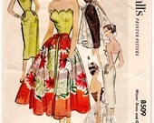 """ORIGINAL Vintage Sewing Pattern 1950's Ladies Dress McCall's 8509 Size 32"""" Bust - Free Pattern Grading E-book Included"""