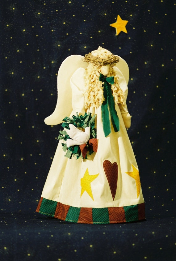 Mailed Cloth Doll Pattern 21in Christmas Angel