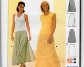 Skirt Pattern Flared Layered with Side Zipper Burda 8974 Misses sizes 10 - 24 EUR 36 - 50