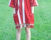 Vintage 1970s Indie tunic / midi dress / ethnic style / Coachella festival