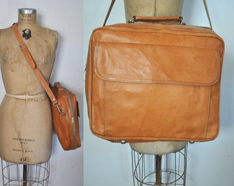 Brown Leather Satchel Mail bag / UNISEX messenger