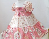 Dusty Rose Pink Baby Dress Ruffled Floral Baby Easter Dress Baby Gift Cotton Baby Girl Clothes Infant Dress Size 3 6 9 12 18 month 2t 3t 4t