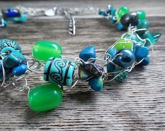 Wire Crochet Necklace (N15)