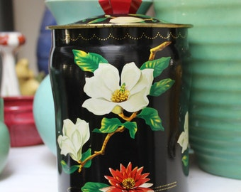 George Horner Tin Toffee England Black Magnolia Lily VINTAGE by Plantdreaming