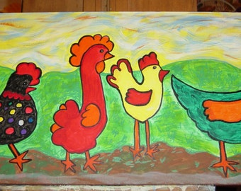 Four Chickens #2