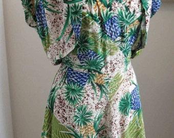 I am sold to Ruby final payment - Hale Hawaiian Vintage Tropical Rayon Crepe Dress Matching Bolero Jacket 1950's Hawaii