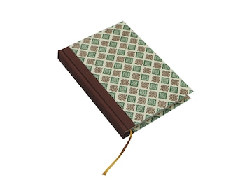 Large A5 Day Planner check brown green