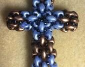 Blue and Bronze Cross