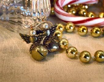 Christmas Angel Bell Earrings