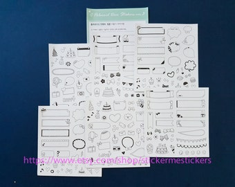 8 SHEETS, INSTAX Deco stickers, Instax Mini, Polaroid Deco stickers, Instax stickers, Caption stickers, Scrapbooking stickers
