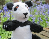 Toy Panda Bear,Black and White Plush Cuddly, Animal Art Doll, Safe Pram Cot Toy,Girl or Boy Toy, Easter Basket Filler, Cool Toy for Kids.