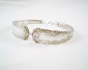 Spoon Bracelet,  FREE ENGRAVING, Spoon Jewelry, PORTLAND 1891 Silverware Jewelry, SIlverware Bracelet, Silver Bracelet, Vintage Wedding