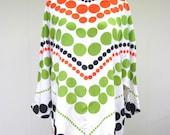Vintage 1960s Blouse / 60s Mod Pop Art Silk Tunic Top / Small - Medium