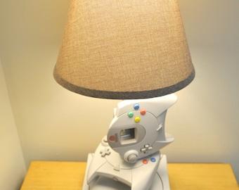 Sega Dreamcast Desk Lamp - Gamer Light Sculpture with Lampshade