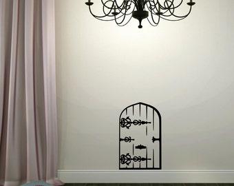 Fairy door decal | Etsy