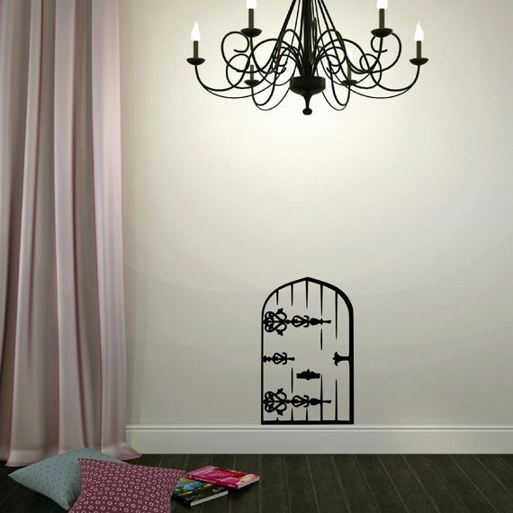 Fairy door vinyl wall decal vinyl lettering wall words decal for Fairy door for wall