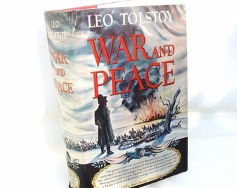 Vintage Book | War and Peace | Classic Book | Leo Tolstoy | Decorative Book | Literature Art | Original Dust Cover