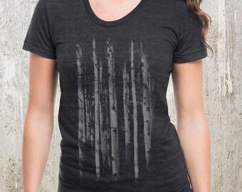Grunge Forest Women's T-Shirt - American Apparel Women's Tri-Blend T-Shirt