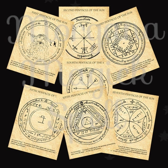 The SUN PENTACLES of SOLOMON