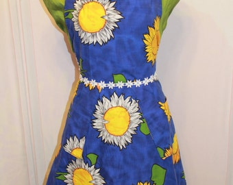 Handmade apron made with vintage fabric