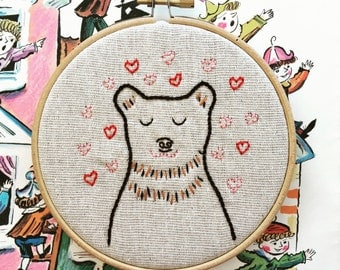hand embroidery kit | valentine gift | valentine hand embroidery | modern embroidery kit | DIY embroidery kit | barry charming