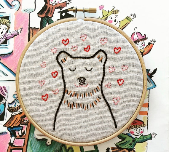 Hand embroidery kit valentine gift