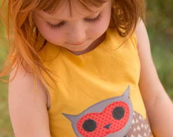 Gold Girls' Owl Dress