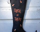 Halloween wreaths and door hangers halloween decorations home decor black and orange witch boot hand painted canvas halloween art
