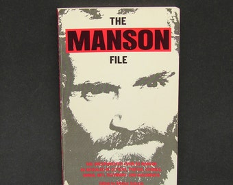 The Manson File Rare Charles Manson Family Book Vintage Scarce