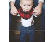 Baby scarf / bib scarf / scarf / drooler bib / drooler scarf / bib /  baby scarf / boy scarf /Guguberry Buffalo Plaid