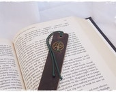 Tree Of Life Bookmark, Celtic Leather Bookmark, Pagan Bookmark, Norse Viking Bookmark, Bookworm Gift, Leather Book Marker, Wiccan Bookmark